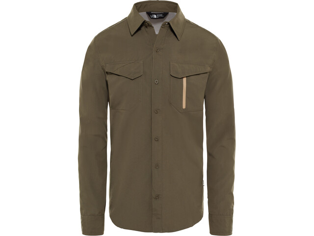 The North Face Sequoia L/S Shirt Herr new taupe green